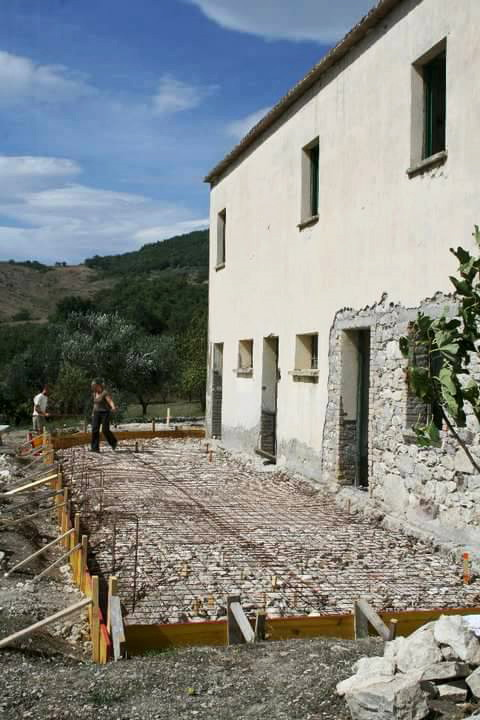 Cement terracing in our house to restore in Italy.