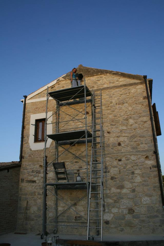 Roof restoration work in our house in Italy.