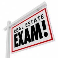 Passing real estate exam to get license