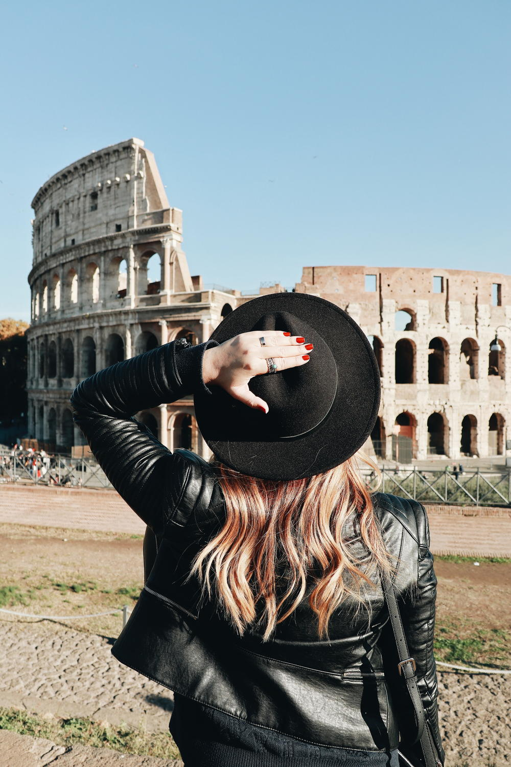 Visiting the Colosseum (Coliseum) in Rome.