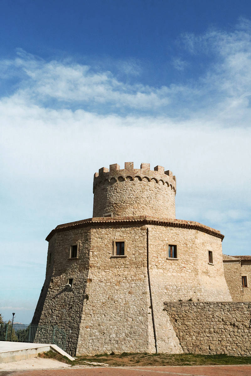 Tower of the Marquise castle, in Palmoli, Abruzzo, Italy