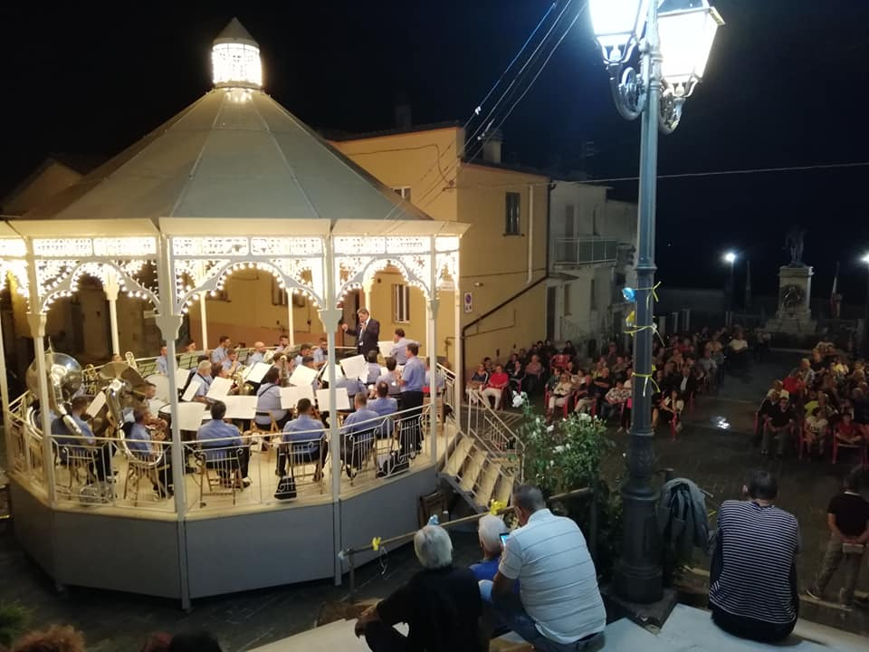 Music event at the traditional parade in Palmoli