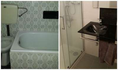Old and new bathroom